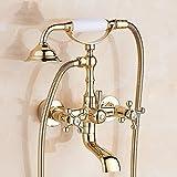 Gyps Faucet cascata per rubinetto acqua fredda e calda rubinetto bagno La luce dorata rubinetto Doccia oro rosa bagno doccia kit A,rubinetto bidet, Desgin moderno rubinetto