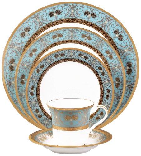 Noritake Georgian Turquoise 5-Piece Place Setting -