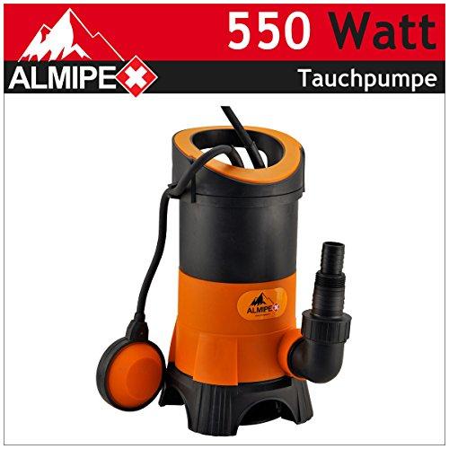 550 W Tauchpumpe Schmutzwasser Membranpumpe Wasserpumpe Brunnenpumpe Garten Pumpe 10.500 l/h