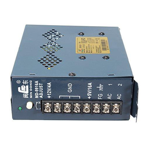 GOZAR Md-99 16A Schaltnetzteil Für Arcade Jamma Pinball Ausgang 5V / 16A 12V / 4A