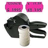 Preisauszeichner Set: Preisauszeichnungsgerät Jolly S14 für 26x16 inkl. 6.000 HUTNER Preisetiketten pink permanent