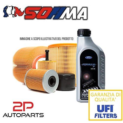 Kit tagliando auto, kit tre filtri e 3 litri olio motore Motorcraft 5W30 (KF1050/so)