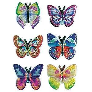 """HERMA Autocollants MAGIC """"papillons""""tissu, 6 sticks sur feuille 85x120mm"""