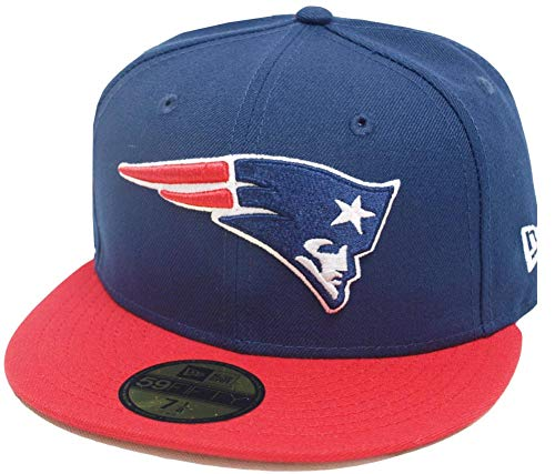 New Era New England Patriots Navy Red 2 Tone On Field NFL Cap 59fifty 5950 Fitted Limited Edition Two Tone Fitted Cap