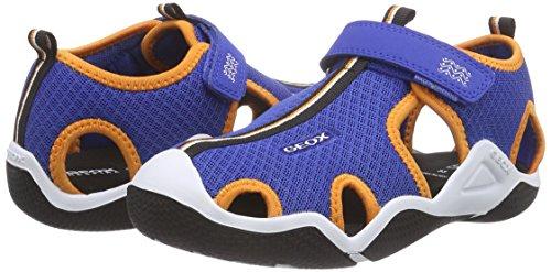 Geox JR WADER C, Jungen Sneakers, Blau (ROYAL/ORANGEC0685), 34 EU -