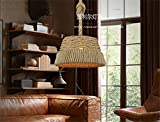 LilaminsThebox Creative personality loft American retro industrial wind Chandelier restaurant and bar and Taipei Lamps Engineering basket-making sisal chandeliers, 37*22cm