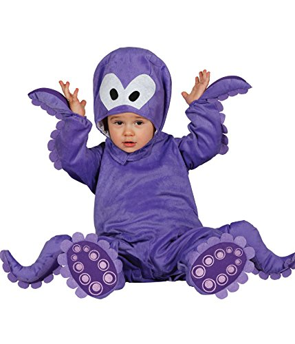 Guirca-Kostüm Oktopus Baby, Gr. 12-24Monate (86001.0) (Krake Baby Kostüm)