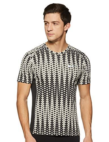 Nike Men's Solid Regular fit T-Shirt (833599-42_Pale Grey/Black_L)