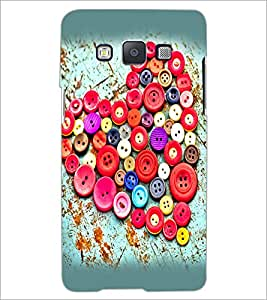 PrintDhaba Button Heart D-2388 Back Case Cover for SAMSUNG GALAXY A5 (Multi-Coloured)