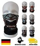 Multifunktionstuch Joker Clown Bandana atmungsaktiv aus Mikrofaser als Halstuch Kopftuch Stirnband und Maske für Motorrad Fahrrad Paintball