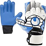 Uhlsport Kinder Torwarthandschuhe Junior Fingerschutz - Fingersave + Handschuh Reiniger