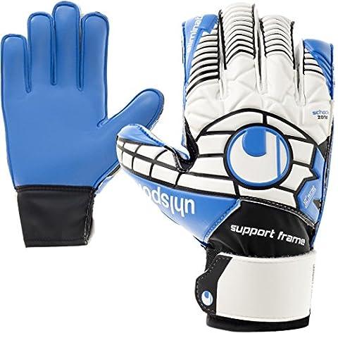 Uhlsport Kinder Torwarthandschuhe Junior Fingerschutz - Fingersave + Handschuh Reiniger (4) (Element Reiniger)