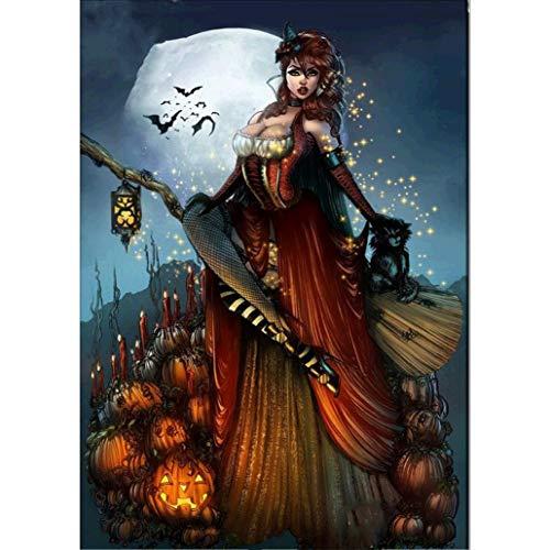 (OverDose Damen Halloween 5D Stickerei Gemälde Strass Kleben DIY Diamant Malerei Kreuzstich Kind Geschenk Home Clubbing Dekoration)