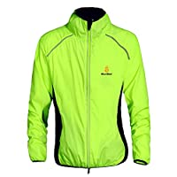 Fancybox WOLFBIKE Cycling Riding Jersey Men Breathable Jacket Cycle Clothing Bike Long Sleeve Wind Coat (Green, XXXL)