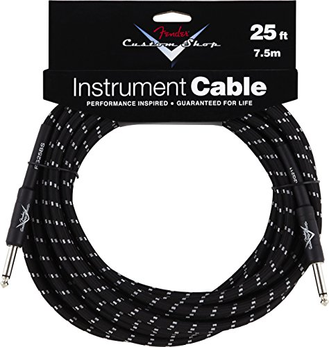 Fender - Custom Shop Cable 7,5m BTW Black Tweed, Kli/Kli
