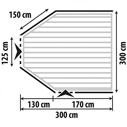 Preisvergleich Produktbild Berger Zubehör einhängbare Bodenwanne für Reisevorzelt Garda-L Deluxe