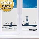 Wandaro Sichtschutzfolien I Motiv 5: Strand mit Sonnenschirm I Wohnzimmer Schlafzimmer Zimmer Fensterfolie Fenster Fenstersticker Milchglas Folie W3371