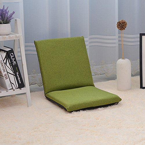 Divano pigro,pieghevole mini divano,divano-letti individuale balcone finestra mobile piano sedia divano pieghevole sedia schienale-verde