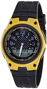 Casio Men's AW80-9BV Black Resin Quartz Watch with Black Dial