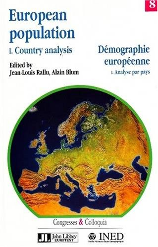 European Population: Country Analysis v. 1 (Congresses and Colloquia)