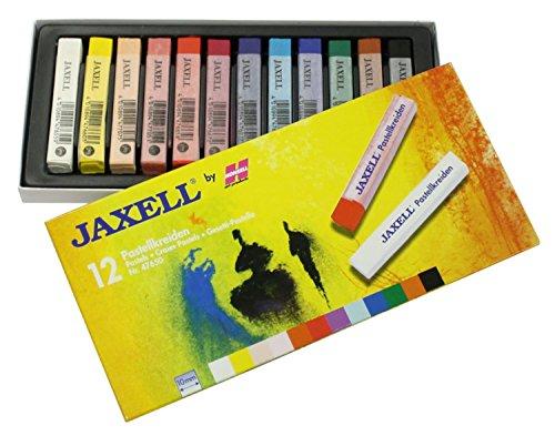 Jaxell 47650 Pastellkreiden, eckige Form, 12er Pack