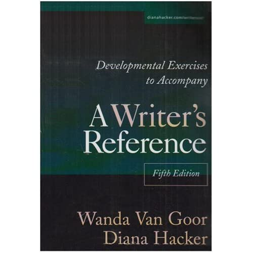 Developmental Exercises to Accompany A Writer's Reference by Diana Hacker (2002-10-07)