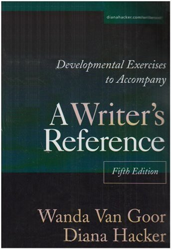 Developmental Exercises to Accompany A Writer's Reference by Diana Hacker (2002-10-07) par Diana Hacker