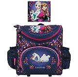 FROZEN / Die Eiskönigin - Vorschul-Ranzen / Kindergarten-Rucksack - 24 x 21x 10 cm + 9 Frozen Sticker + Sticker von Kids4shop - Motiv: Anna + Elsa + Olaf