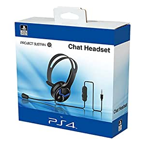 official ps4 wired chat headset pc video. Black Bedroom Furniture Sets. Home Design Ideas