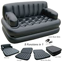 "5 in 1 Best Way Air sofa If you are looking for more than ""just an air bed"", then the Smart Air Beds 5 x 1 Inflatable Sofa Bed is probably the right piece of inflatable furniture for you. Depending on the chambers you inflate and the configuration, t..."