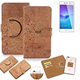 K-S-Trade 360° Cover cork Case for Huawei Y6 (2017) Dual