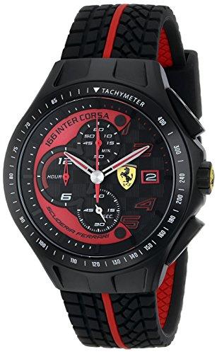 Scuderia Ferrari 0830077 - Orologio da polso da uomo, Silicone, colore: Nero