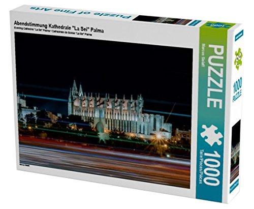 "Preisvergleich Produktbild Abendstimmung Kathedrale ""La Sei"" Palma 1000 Teile Puzzle quer (CALVENDO Orte)"