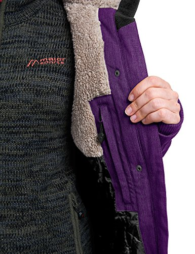 maier sports Damen Outdoor Mantel BI Elastisch Edessa Dark Purple