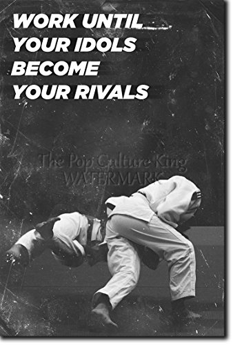 Judo motivacional, póster o afiche. 02 'Work Until...' Lámina original para regalo con cita de motivación impresa en papel de fotografía 30x20 cm Judoka Japan Japanese Kata