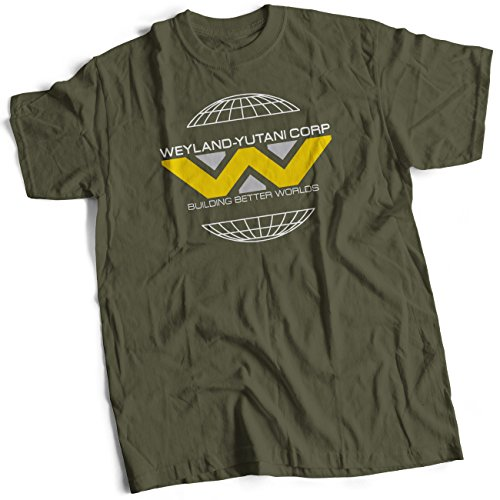 bybulldog Weyland-Yutani Corp Herren Premium T-Shirt Oliv S -