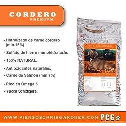Saco Chris gardner Cordero Premium de 20KG. Piensos para perros, comida de alta calidad para mascotas. 100%Natural.
