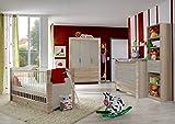 Dreams4Home Babyzimmer 'Cosmo II', Babyzimmerkomposition, Babyzimmer komplett, Babyzimmer, Farbe:Eiche Sägerau / Olivgrau