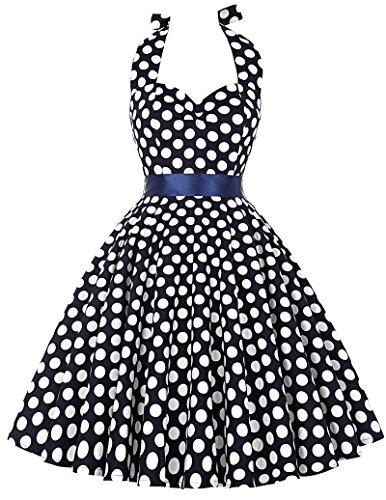 40s 50s 60s retro vintage petticoat kleid neckholder kleid festliches kleid rockabilly kleid L CL6076-4