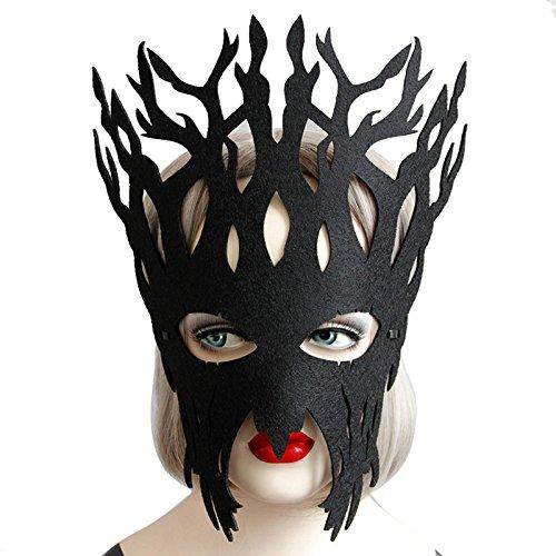 OverDose Damen Maskerade Maske Maskenball Maske Kostüme Karneval Venezianischen Partei Maske DIY Handgemacht Valentinstag Party Batman-Maske für Erwachsene ()