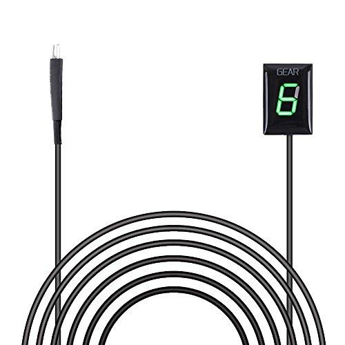 Preisvergleich Produktbild Ganganzeige Motorrad,  IDEA Wasserdichte 6 Speed LED Digital Display Schaltanzeige Schalthebel Plug & Play