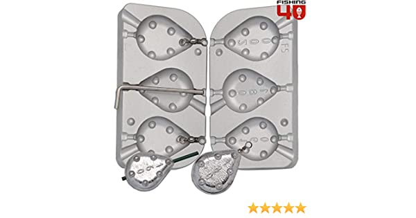 120 Fishing4U 2/en 1/Grip Support P/êche Plomb Moule /à 100 140/g /à la Carpe//Mer