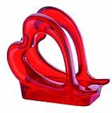 Guzzini Love Portatovaglioli, Plastica, Rosso Trasparente, 7x13x12 cm