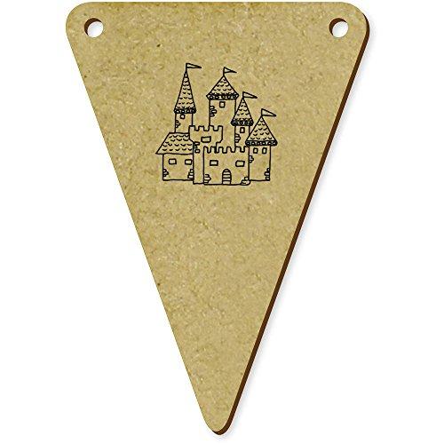 telalterliche Burg' Wimpel / Banner aus Holz (BN00031051) ()