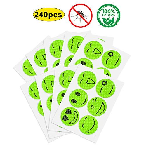 Yhmall (120/240 pezzi di adesivi repellenti per insetti per zanzare naturali per adulti e bambini per la rimozione di insetti deet-free