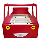 Homestyle4u Doppelbett in Fire Truck Design, Holz, rot, 98 x 205 x 60 cm - 5