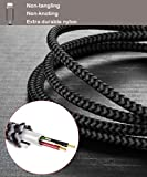 Lightning Cable, Becaso 3pack 5ft/1.5m Nylon Braided Charging Cable Compatible with iPhone 7/ 7Plus, iPhone 6s Plus/ 6s/ 6 Plus/ 6, iPhone 5/ 5s/ 5c, iPad, iPod and More (Grey)