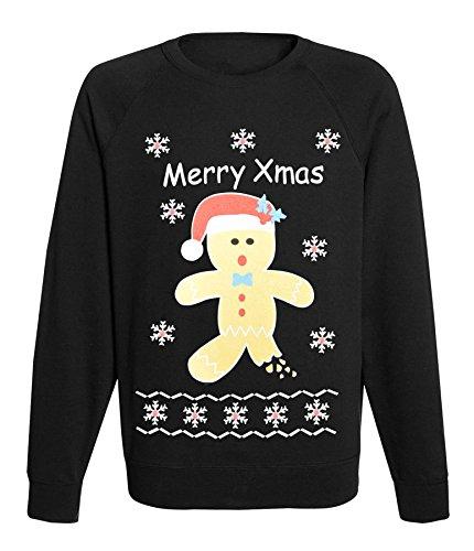 Women's Ladies Xmas Novelty Processco Ho Ho Gingerbrad Santa Rudolph Team Christmas Jumper sweathsirt Top
