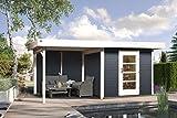 weka Designhaus 172 B Gr.1, anthrazit, 28 mm, ET, Anbau 300 cm, ohne RW