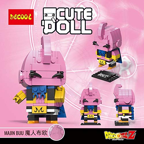 CuteDoll Figura de Majin buu bubuu Dragonball Dragon Ball Puzzle Juego Bloques de construccion tamaño 9 cm DIY Mini Building Puzzle Juguete niños colección